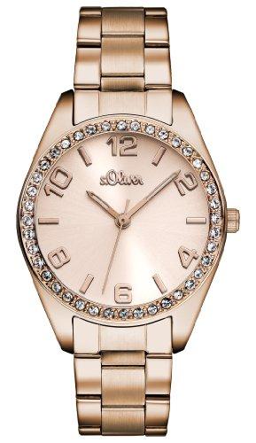 s.Oliver Damen Quarz Armbanduhr mit Edelstahlarmband