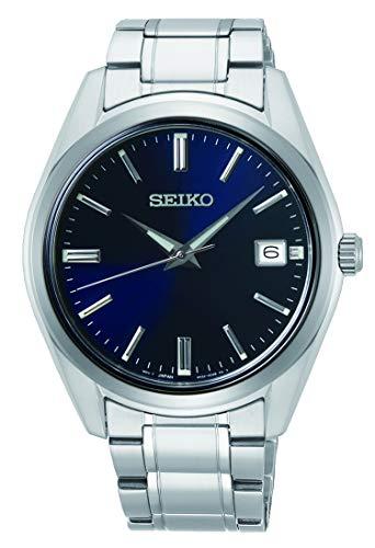 Seiko Quarz Herren-Uhr Edelstahl mit Metallband SUR309P1