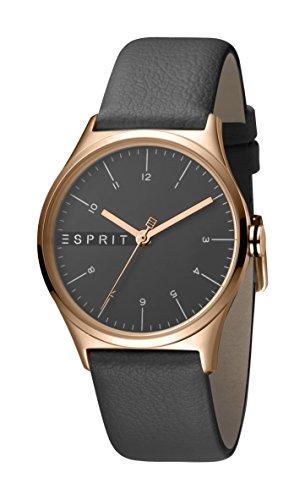 Esprit Damen Analog Quarz Uhr mit Leder Armband ES1L034L0045