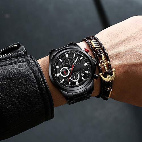 Voigoo Uhren Edelstahl Herrenuhren 2020 New Luxury Business Luminous Chronograph Datum Quarz-Uhr Relogio Masculino