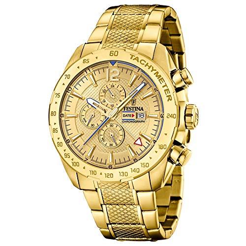 Festina Herren Chronograph Quarz Uhr mit Edelstahl Armband F20441/1