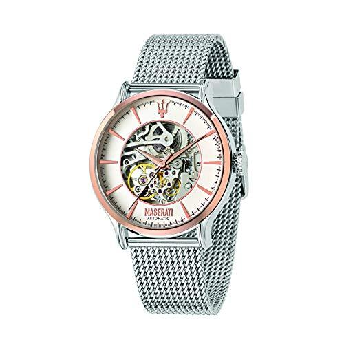 MASERATI Herren  Analog Automatik Uhr mit Edelstahl Armband  R8823118004