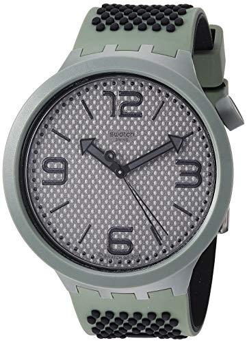 Swatch Herren Analog Quarz Uhr mit Silikon Armband SO27M100