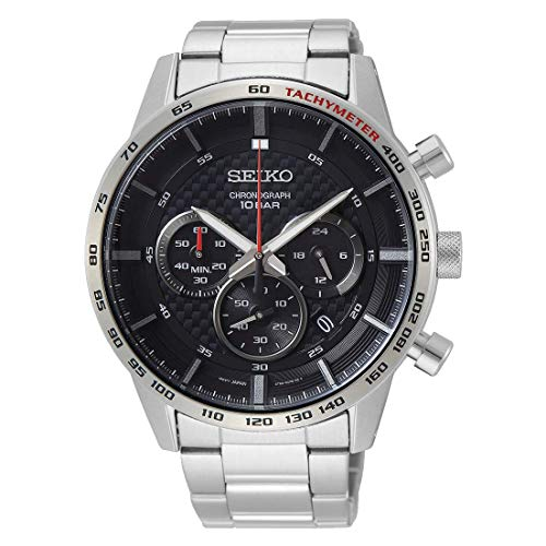 Seiko Herren Chronograph Quarz Uhr mit Edelstahl Armband SSB355P1
