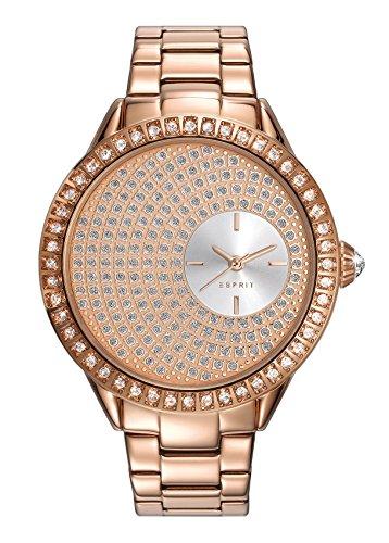 Esprit Damen Datum klassisch Quarz Uhr mit Edelstahl Armband ES109552003