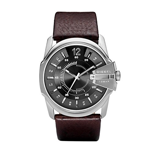 Diesel Herren Analog Quarz Uhr mit Leder Armband DZ1206