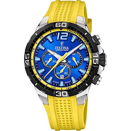 Festina F20523/5 Herren-Uhr Chrono Bike Chronograph Quarz Silikon-Armband