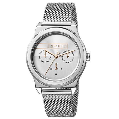 Esprit Damen Multi Zifferblatt Quarz Uhr mit Edelstahl Armband ES1L077M0045