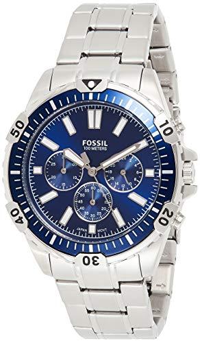 Fossil Herren Chronograph Quarz Uhr mit Edelstahl Armband FS5623