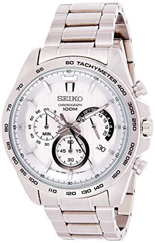 Seiko Herren-Uhr Chronograph mit Metallarmband SSB297P1
